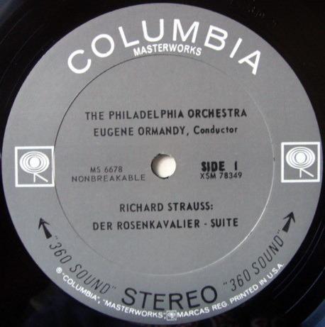 Columbia 2-EYE / ORMANDY, - R. Strauss Rosenkavalier Suite, NM!