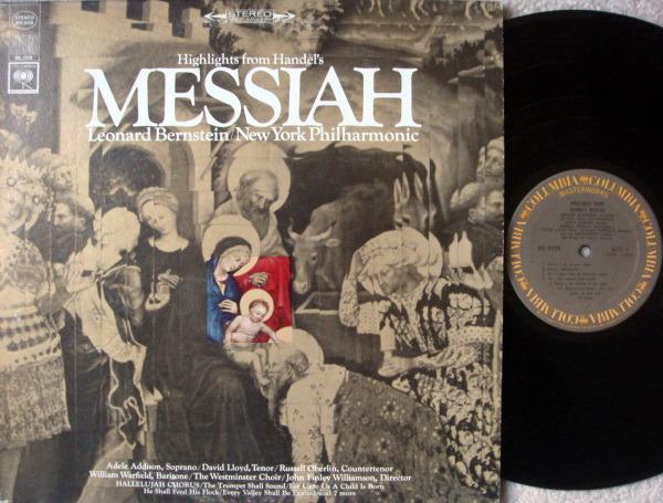 Columbia / LEONARD BERNSTEIN, - Handel Messiah Highlights, NM!