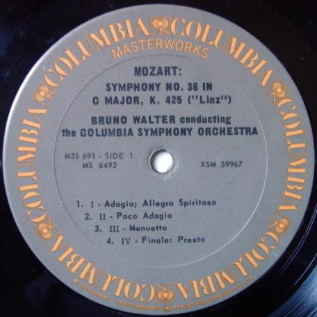 Columbia / BRUNO WALTER, - Mozart the Last Six Symphonies, NM-, 2LP Box Set!