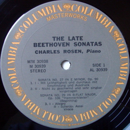 Columbia / CHARLES ROSEN, - Beethoven The Late Piano Sonatas, NM, 3LP Box Set!