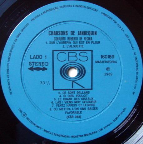 Columbia / REGINA, - Chansons de Jannequin, NM!