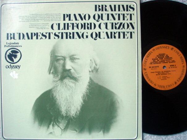 Columbia Odyssey / CURZON-BUDAPEST QT, - Brahms Piano Quintet, NM!