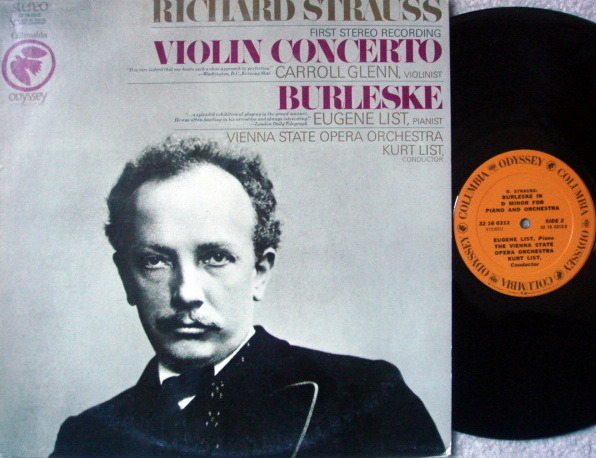 Columbia Odyssey / GLENN-LIST, - R Strauss Violin Concerto, NM!