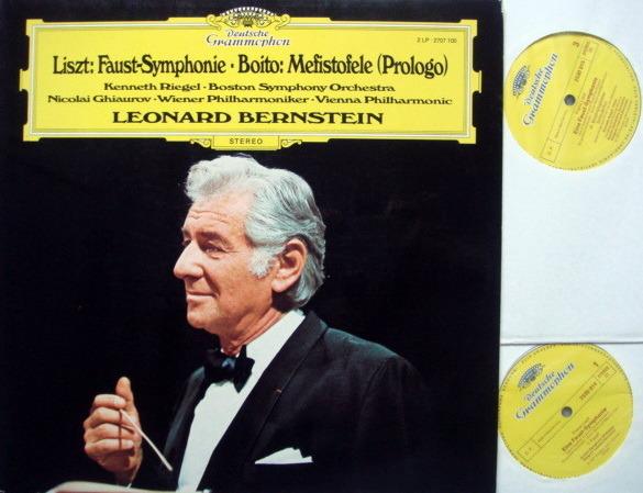 DG / BERNSTEIN/VPO, - Liszt Faust Symphony, Boito Mefistofele,  NM, 2LP Set!