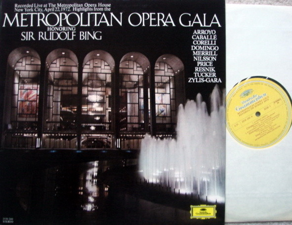 DG / BING-ARROYO-DOMINGO, - Metropolitan Opera Gala, NM!