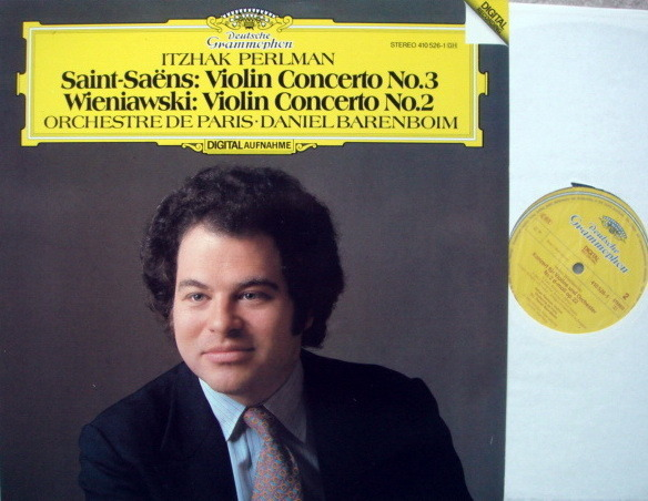 DG Digital/ PERLMAN-BARENBOIM, - Saint-Saens/Wieniawski Violin Concertos, NM!