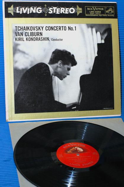 """TCHAIKOVSKY/Kondrashin/Cliburn -  - """"Piano Concerto no.1"""" - RCA 'Shaded Dog' 1958 3S/3S"""