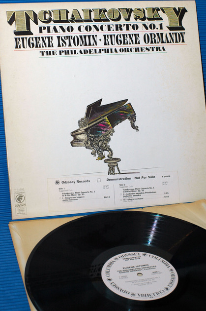 "TCHAIKOVSKY/Ormandy/Istomin -  - ""Piano Concerto 1"" -  Odyssey White Label Demo 1977 DJ Strip"