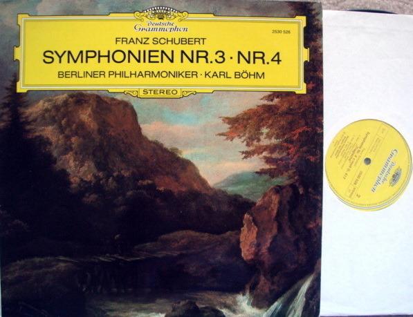 DG / BOHM-BPO, - Schubert Symphony No.3 & 4, NM!