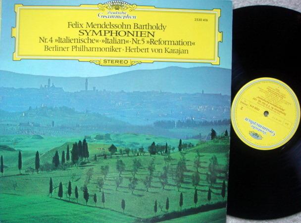 DG / KARAJAN-BPO, - Mendelssohn Symphony No.4 Italian &, No.5 Reformation,  NM!