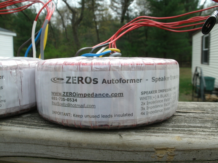 Paul Speltz Zero Autoformers impedance match one pair