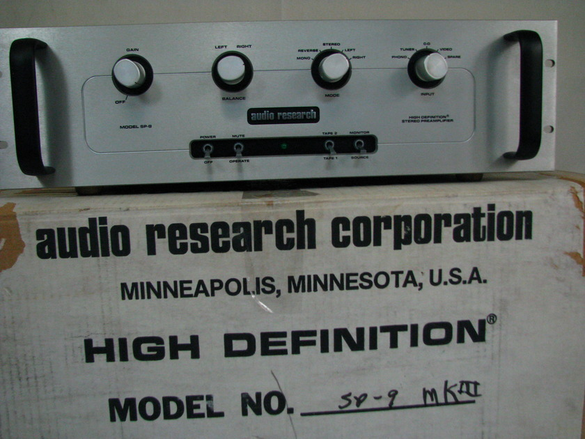 Audio Research Vintage Audio Research SP MK III Phono Stage Perfect Condition Box 6922 Tube