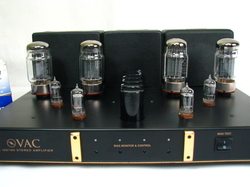 Vac PA 100/100 AMPLIFIER Stereo KT88 6550 RCA Clear Top Phi Valve Amplification