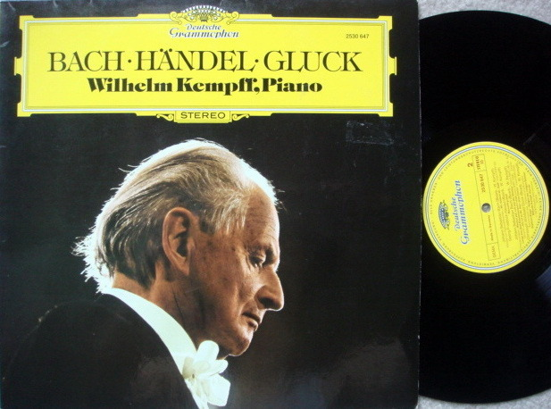DG / WILHELM KEMPFF, - Bach-Handel-Gluck Piano Works, NM!