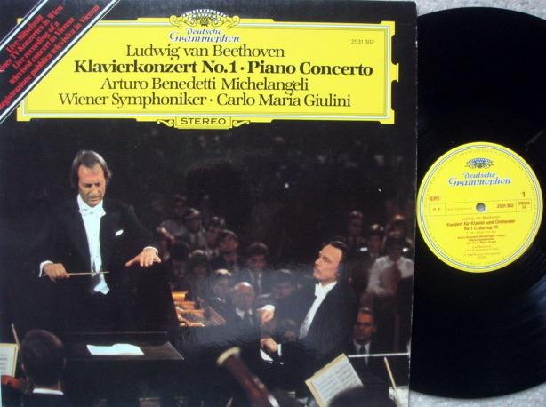 DG / MICHELANGELI-GIULINI, - Beethoven Piano Concerto No.1, VG+!