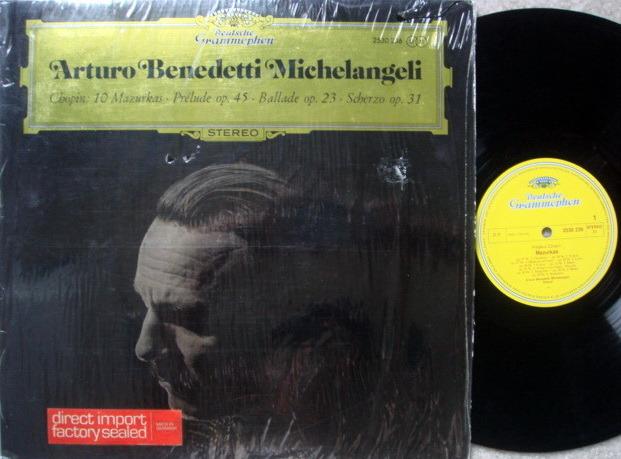 DG / ARTHUR MICHELANGELI, - Chopin 10 Mazurkas, NM!