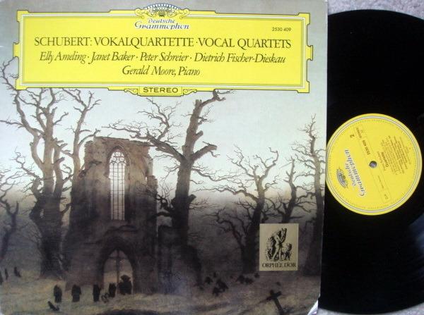 DG / AMELING-BAKER-SCHREIER-FISCHER-DIESKAU, - Schubert Vocal Quartets, NM!
