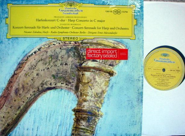 DGG / ZABALETA, - Rodrigo Concert-Serenade for Harp &, Orchestra,  NM!