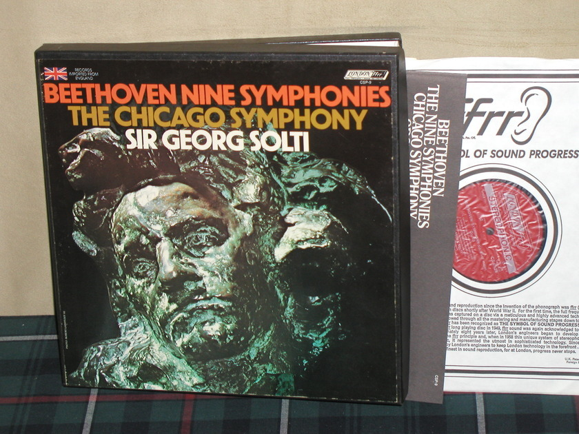 Solti/Chicago SO - Beethoven Nine Symphonies London CSP-9  UK press