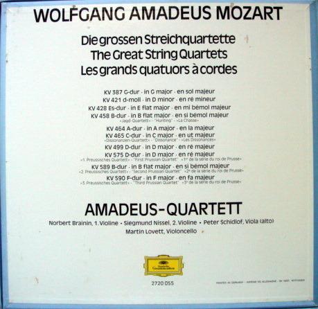 DG / AMADEUS QT, - Mozart The Great String Quartets, NM, 5LP Box Set!