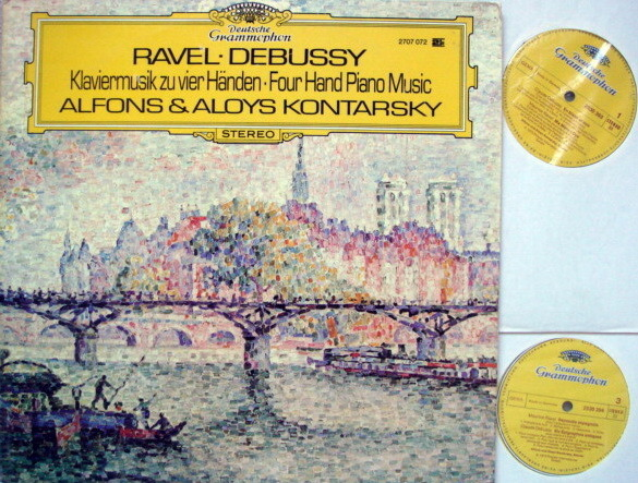 DG / KONTARSKY, - Ravel-Debussy Four Hand Piano Music, NM, 2LP Set!