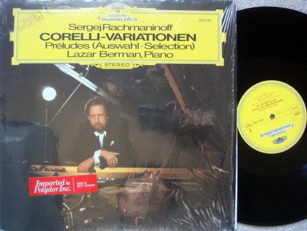 DG / LAZAR BERMAN, - Rachmaninoff Corelli Variations, Preludes, NM, Promo Copy!