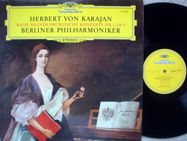 DG / KARAJAN-BPO, - Bach Brandenburg Concertos No.1, 2 & 3, NM!