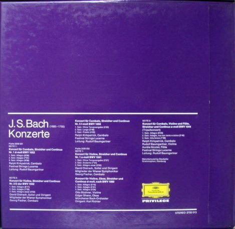 DG / OISTRACH-RICHTER-KIRKPATRICK, - Bach Concertos, NM, 2LP Box Set!