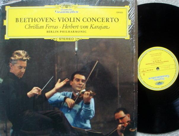 DG / FERRAS-KARAJAN - ,Beethoven Violin Concerto, NM!