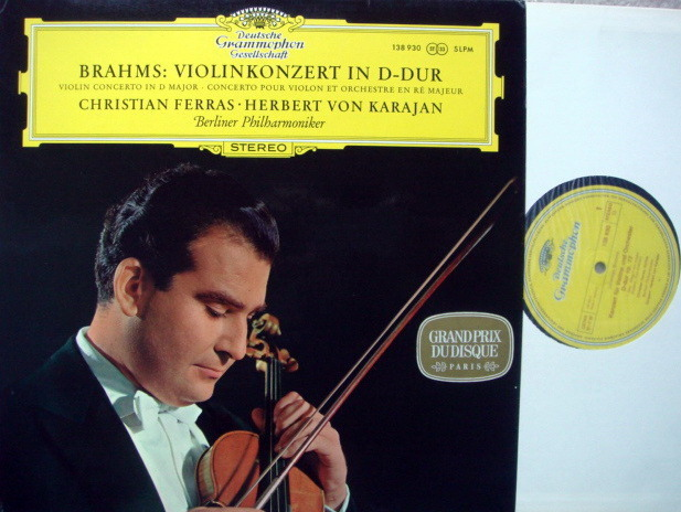 DGG / FERRAS-KARAJAN, - Brahms Violin Concerto, NM!