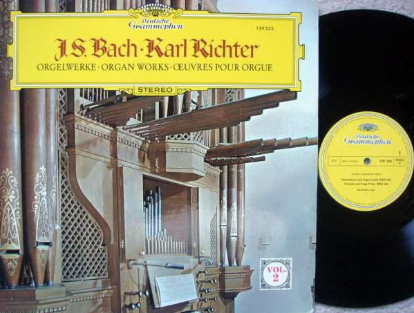 DG / KARL RICHTER, - Bach Organ Works Vol.2, EX!