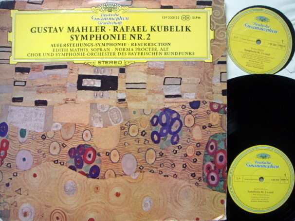 DGG / RAFAEL KUBELIK, - Mahler Symphony No.2 Resurrection, NM, 2 LP Set!