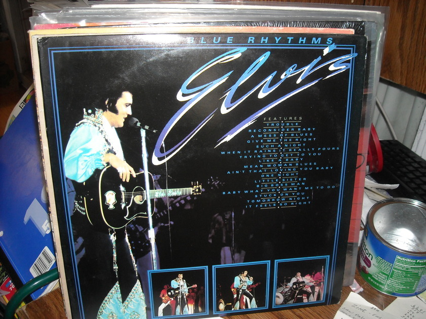 Elvis Presley - Blue Rhythms Everest Records 2 LP Set (c)