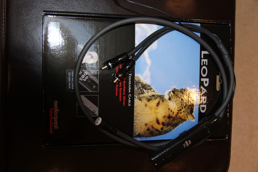 AUDIOQUEST LEOPARD TONEARM CABLE 72V DBS, 1.2M STRAIGHT DIN TO RCA-NEW