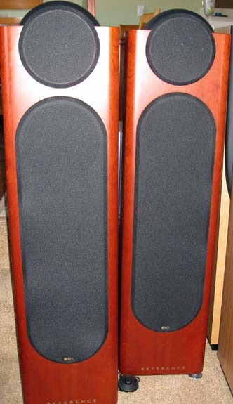 KEF 205/2's, LIGHTLY USED, CHERRY FINISH