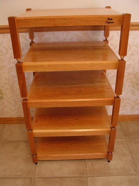 Audio Elegance Dakota Cherry equipment rack, stand