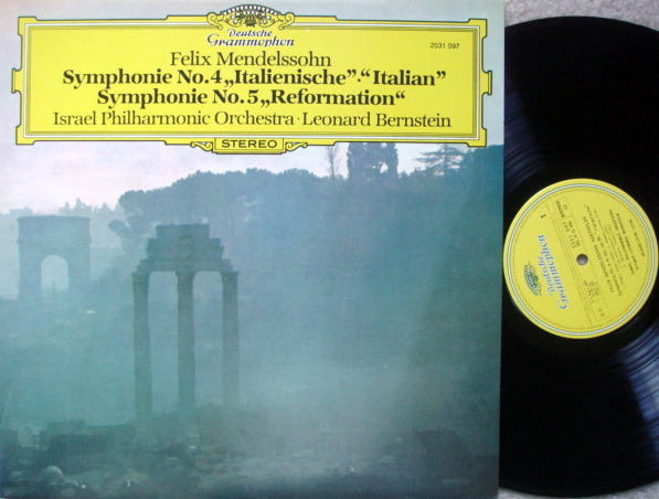 DG / BERNSTEIN-IPO, - Mendelssohn Symphony No.4 Italian & No.5 Reformation,  NM!