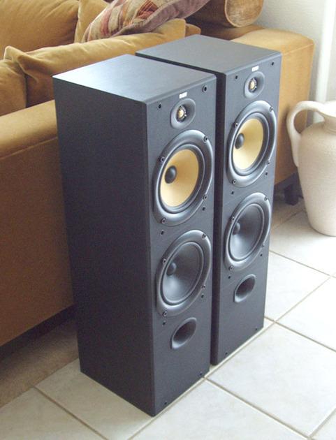 B&W / Bowers & Wilkins DM603 / DM 603 Bi-Wire / Bi--Amp Beautiful Audiophile Speakers in Black Ash