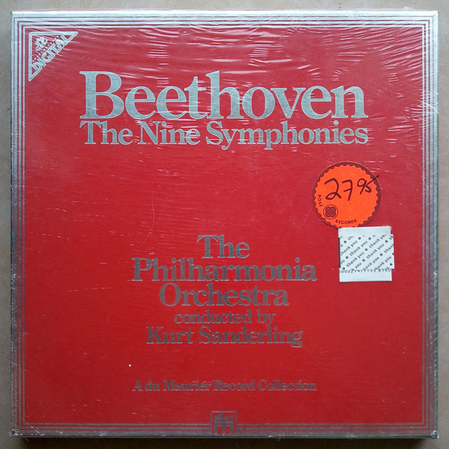 Sealed ANGEL Digital | KURT SANDERLING/BEETHOVEN - The Nine Symphonies / 8-LP Box Set