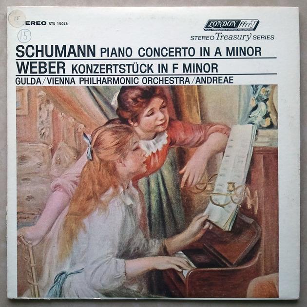 London ffrr   GULDA/SCHUMANN - Piano Concerto / WEBER Konzertstück in F minor / NM