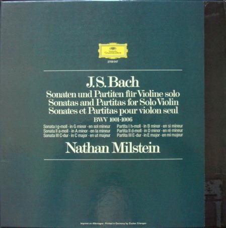 DG / NATHAN MILSTEIN, - Bach 6 Sonatas & Partitas for Solo Violin,  NM, 3LP Box Set!