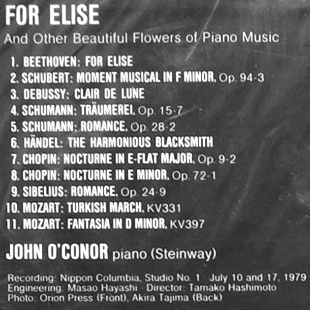 SEALED DENON | JOHN O'CONOR / - BEETHOVEN Fur Elise & other Piano pieces