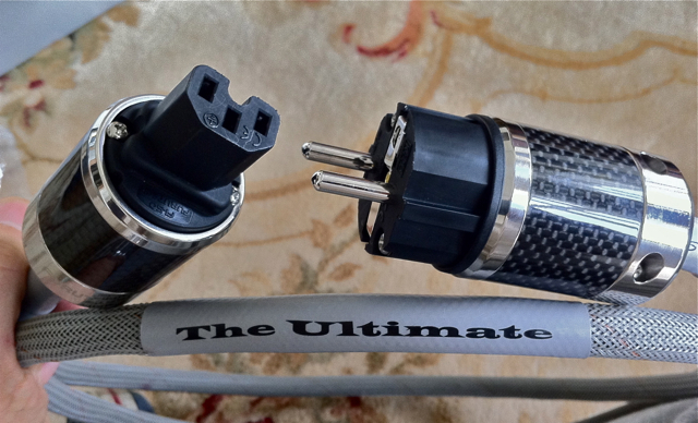 The Ultimate 2 meter power cord with schuko connections in Europe