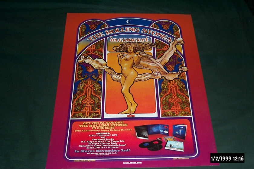 Rolling Stones - Promo Get Yer Ya ya's out poster rare