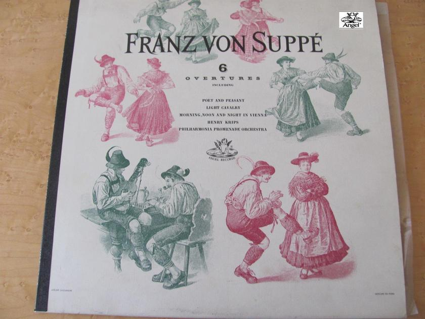 Franz Von Suppe, 6 Overtures - Angel records, Henry Krips,  Philharmonia Promenade Orchestra, NM