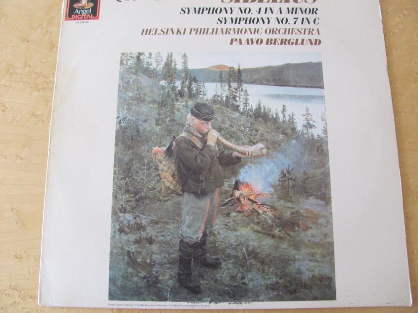 Sibelius: Symphonies No.4 & 7, - Angel Records, Paavo Berglund,  Helsinki Philharmonic Orchestra, NM