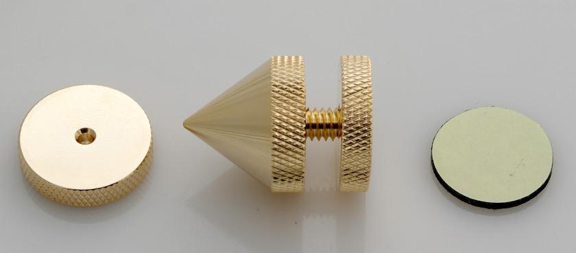 SuperCellAudio ® Audio Cones / Floor Spikes  Gold Plated, Set of 8.