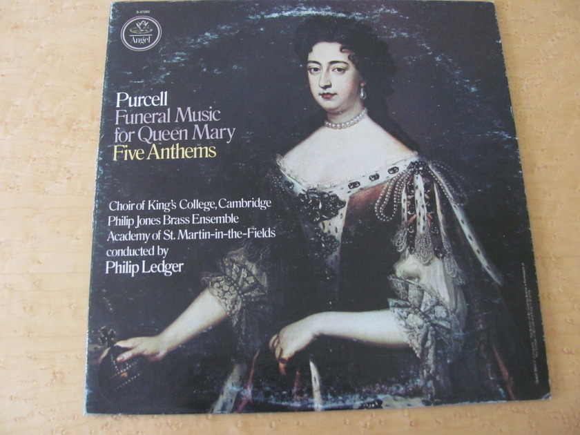 Purcell: Funeral Music for Queen Mary- Five Anthems,  - Angel Records, Philip Ledger,  Choir of King's College-Cambridge & St. Martin-in-the-Fields, NM