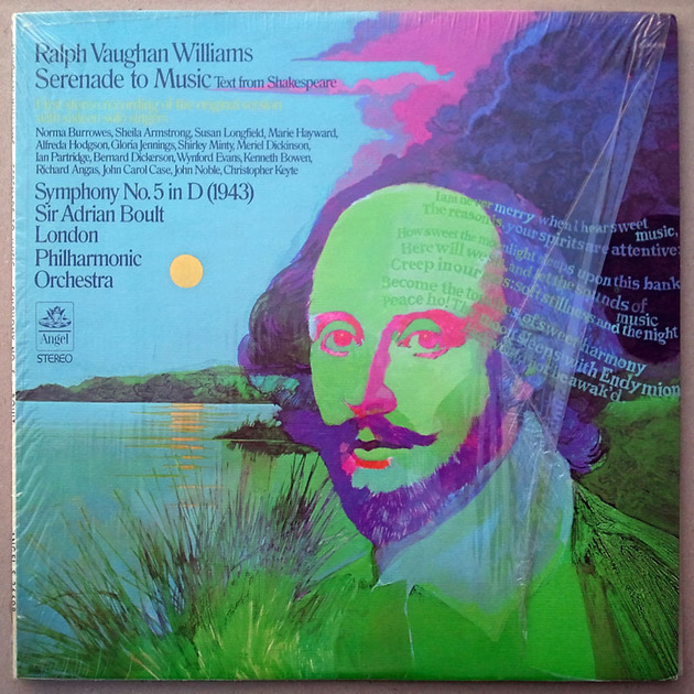 ANGEL | BOULT/VAUGHAN WILLIAMS - Symphony No.5, Serenade to Music / NM