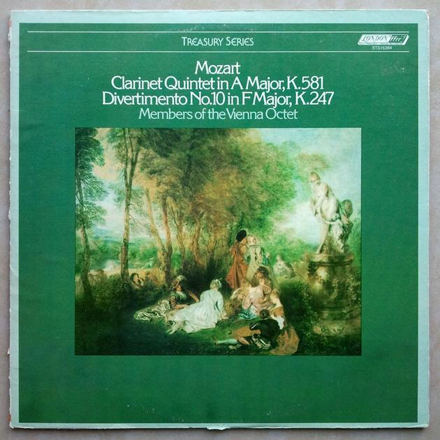 London ffrr   VIENNA OCTET/MOZART - Clarinet Quintet K.581, Divertimento No. 10 K.247 / NM